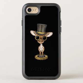 Capa Para iPhone 8/7 OtterBox Symmetry Girafa bonito do bebê de Steampunk