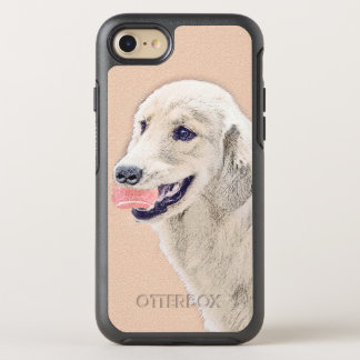 Capa Para iPhone 8/7 OtterBox Symmetry Golden retriever com arte do cão da pintura da