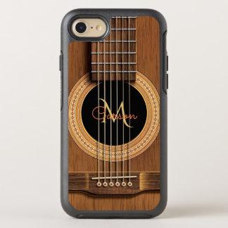 Capa Para iPhone 8/7 OtterBox Symmetry Guitarra acústica de madeira morna