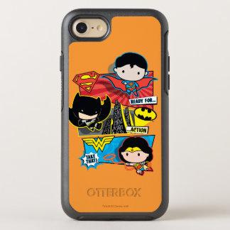 Capa Para iPhone 8/7 OtterBox Symmetry Heróis de Chibi prontos para a ação!