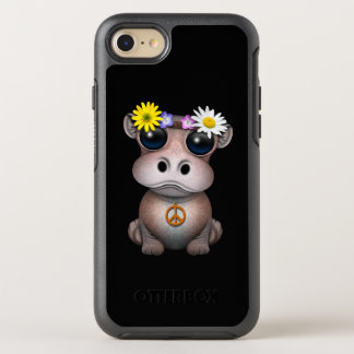 Capa Para iPhone 8/7 OtterBox Symmetry Hippie bonito do hipopótamo do bebê