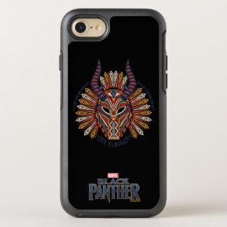 Capa Para iPhone 8/7 OtterBox Symmetry Ícone tribal preto da máscara da pantera | Erik