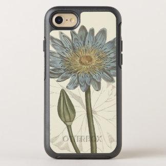 Capa Para iPhone 8/7 OtterBox Symmetry Ilustração botânica do lírio de água azul