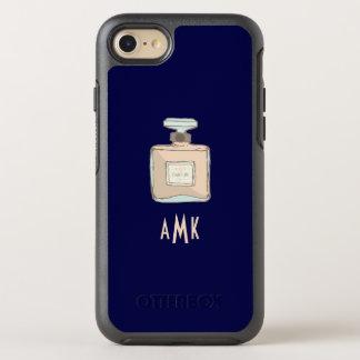 Capa Para iPhone 8/7 OtterBox Symmetry Ilustração da garrafa de Parfum com iniciais do