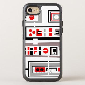 Capa Para iPhone 8/7 OtterBox Symmetry Impressão preto cinzento vermelho do 50