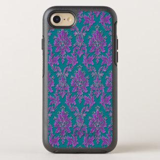 Capa Para iPhone 8/7 OtterBox Symmetry Impressão roxo do damasco na cerceta ou na sua cor