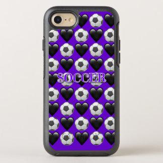 Capa Para iPhone 8/7 OtterBox Symmetry iPhone roxo do futebol 8/7 de caso de Otterbox