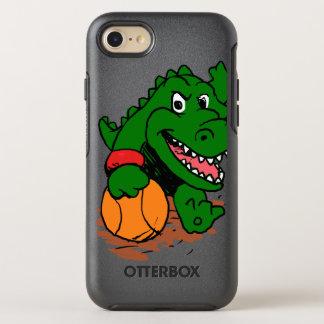 Capa Para iPhone 8/7 OtterBox Symmetry Jacaré que joga o basquetebol