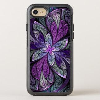 Capa Para iPhone 8/7 OtterBox Symmetry La floral abstrato Chanteuse do vitral do roxo
