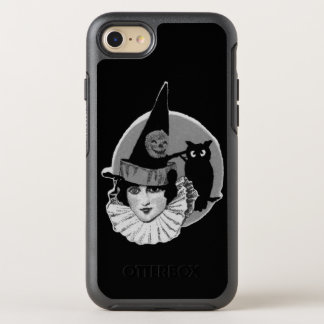 Capa Para iPhone 8/7 OtterBox Symmetry Lanterna bonito de Jack O da coruja da Lua cheia