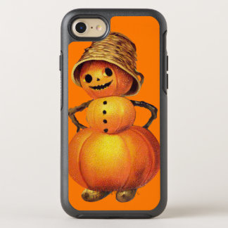 Capa Para iPhone 8/7 OtterBox Symmetry Laranja de sorriso do boneco de neve da abóbora