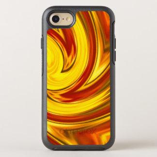 Capa Para iPhone 8/7 OtterBox Symmetry laranja vermelha do ouro impetuoso abstrato do
