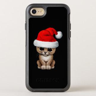 Capa Para iPhone 8/7 OtterBox Symmetry Leão Cub bonito que veste um chapéu do papai noel