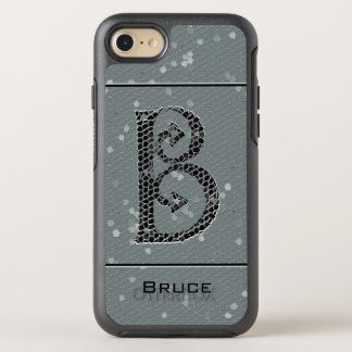 Capa Para iPhone 8/7 OtterBox Symmetry Letra antiga B do monograma