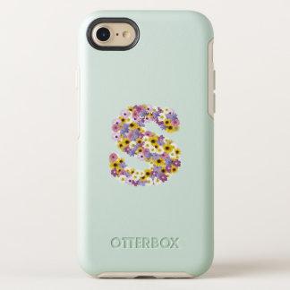 Capa Para iPhone 8/7 OtterBox Symmetry Letra S do monograma