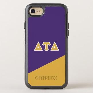 Capa Para iPhone 8/7 OtterBox Symmetry Letras do grego do delta | da tau do delta