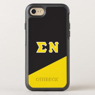Capa Para iPhone 8/7 OtterBox Symmetry Letras do grego do NU | do Sigma