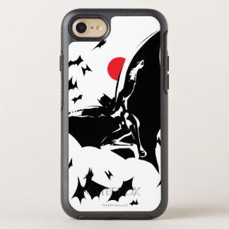 Capa Para iPhone 8/7 OtterBox Symmetry Liga de justiça | Batman na nuvem do pop art dos