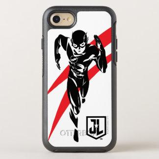 Capa Para iPhone 8/7 OtterBox Symmetry Liga de justiça   o flash que funciona o pop art