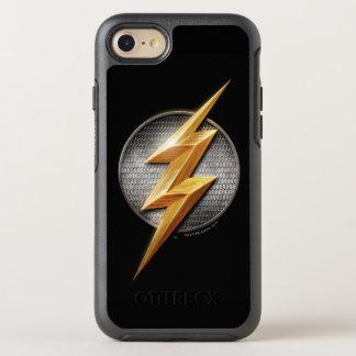 Capa Para iPhone 8/7 OtterBox Symmetry Liga de justiça   o símbolo metálico instantâneo
