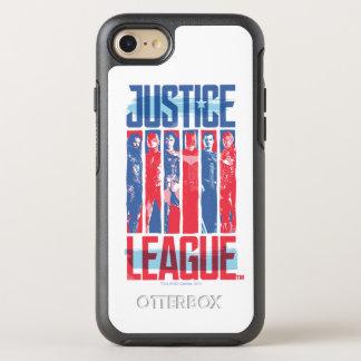 Capa Para iPhone 8/7 OtterBox Symmetry Liga de justiça pop art azul & vermelho de   do