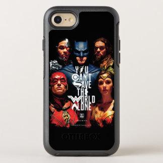 Capa Para iPhone 8/7 OtterBox Symmetry Liga de justiça   você não pode salvar o mundo
