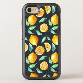 Capa Para iPhone 8/7 OtterBox Symmetry Limões e folhas alaranjados do verde no preto