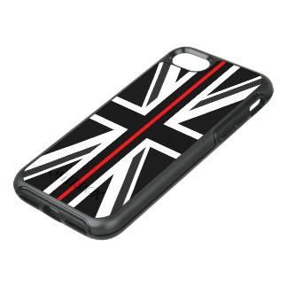 Capa Para iPhone 8/7 OtterBox Symmetry Linha vermelha fina bandeira do Reino Unido