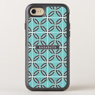 Capa Para iPhone 8/7 OtterBox Symmetry Linhas, hortelã e cinzas torcidas com nome