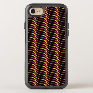 Capa Para iPhone 8/7 OtterBox Symmetry Linhas retros Funky coloridas da onda