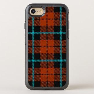 Capa Para iPhone 8/7 OtterBox Symmetry Listra azul do outono e preta alaranjada