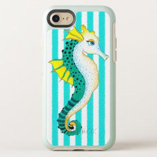 Capa Para iPhone 8/7 OtterBox Symmetry listras da cerceta do cavalo marinho