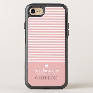 Capa Para iPhone 8/7 OtterBox Symmetry Listras modernas com monograma de gama alta do