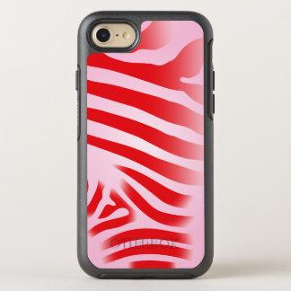 Capa Para iPhone 8/7 OtterBox Symmetry Listras vermelhas e cor-de-rosa do impressão da