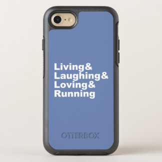 Capa Para iPhone 8/7 OtterBox Symmetry Living&Laughing&Loving&RUNNING (branco)