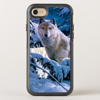 Capa Para iPhone 8/7 OtterBox Symmetry Lobo ártico - lobo branco - arte do lobo