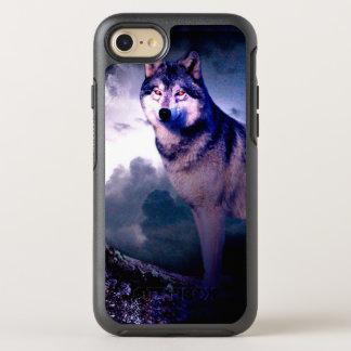 Capa Para iPhone 8/7 OtterBox Symmetry Lobo da lua - lobo cinzento - lobo selvagem - lobo
