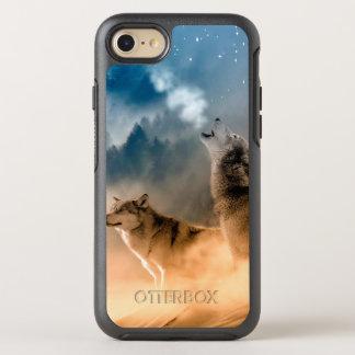 Capa Para iPhone 8/7 OtterBox Symmetry Lobo de Howlin - arte do lobo - lobo da lua - lobo