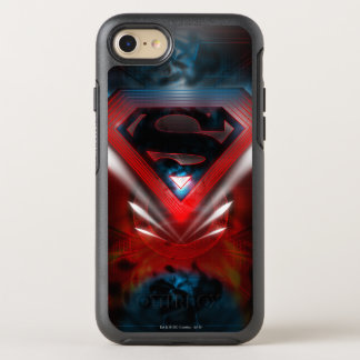 Capa Para iPhone 8/7 OtterBox Symmetry Logotipo | futurista estilizado do superman
