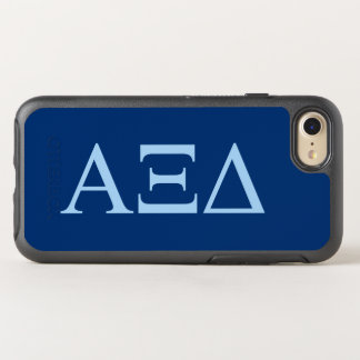 Capa Para iPhone 8/7 OtterBox Symmetry Logotipo grande de Lil do delta do alfa Xi