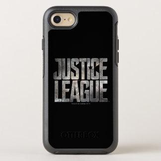 Capa Para iPhone 8/7 OtterBox Symmetry Logotipo metálico da liga de justiça da liga de