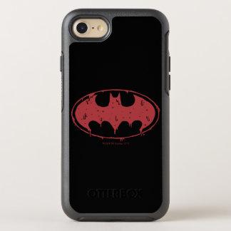 Capa Para iPhone 8/7 OtterBox Symmetry Logotipo Oozing do bastão vermelho de Batman |
