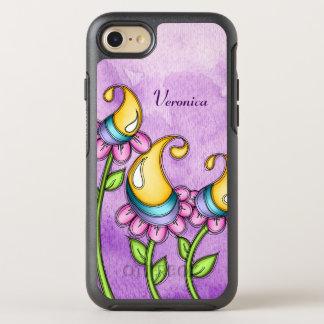 Capa Para iPhone 8/7 OtterBox Symmetry Lontra do iPhone da flor do Doodle da aguarela da