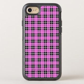 Capa Para iPhone 8/7 OtterBox Symmetry Luz do bebé - listra branca/preta cor-de-rosa