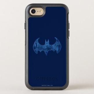 Capa Para iPhone 8/7 OtterBox Symmetry Luz do bloco de desenho do símbolo | de Batman -