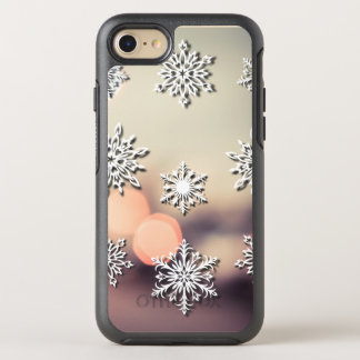 Capa Para iPhone 8/7 OtterBox Symmetry Luzes e floco de neve de Natal