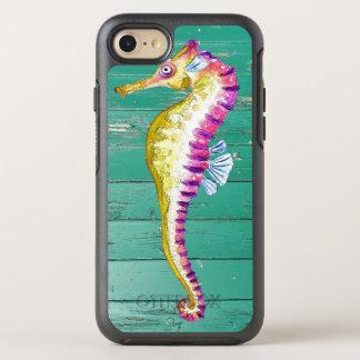 Capa Para iPhone 8/7 OtterBox Symmetry madeira da cerceta do cavalo marinho