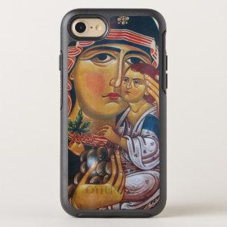 Capa Para iPhone 8/7 OtterBox Symmetry Mãe Mary e arte de Jesus