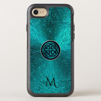 Capa Para iPhone 8/7 OtterBox Symmetry Mandala celta do nó do verde azul de turquesa do