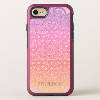 Capa Para iPhone 8/7 OtterBox Symmetry Mandala cor-de-rosa do arco-íris do ouro